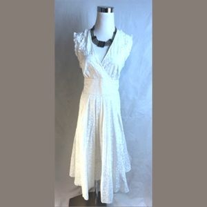 Marc By Marc Jacobs White Jacquard Dress 10